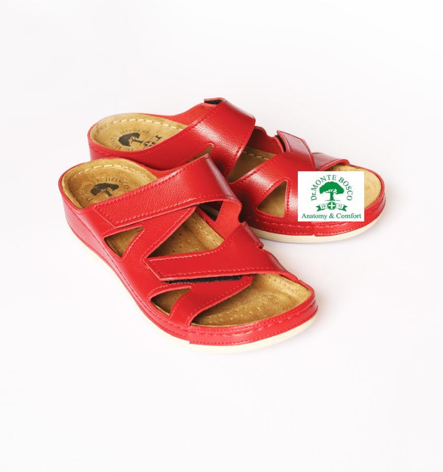 DrMonteBosco női papucs 124_Rosso