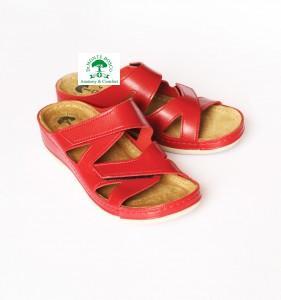 DrMonteBosco női papucs 124 Rosso