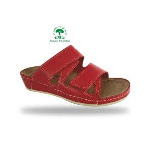 Fratelli Babb komfort papucs D76 Rosso
