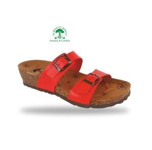 MonteBosco bio divat papucs V56 Rosso