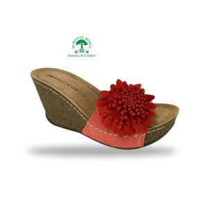 Fratelli Babb divat papucs D150 Rosso kényelmesen divatos