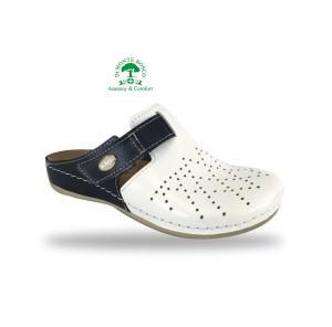 Fratelli Babb komfort klumpa D301 Bianco-Blu