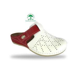 Fratelli Babb divat papucs D301 Bianco-Rosso