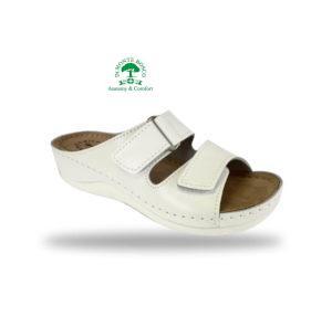 Fratelli Babb kényelmi komfort papucs D303 Bianco