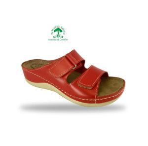 Fratelli Babb kényelmi komfort papucs D303 Rosso