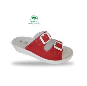 Monte Bosco - Sanital Light 371 Rosso női komfort papucs