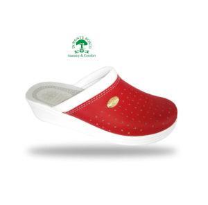 Monte Bosco - Sanital Light 350 Rosso női komfort papucs