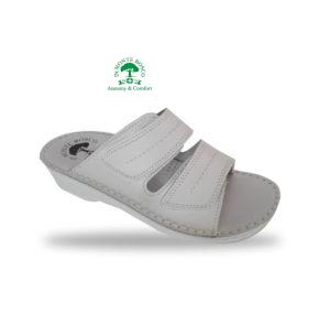 MonteBosco női anatómiai papucs B09 Bianco